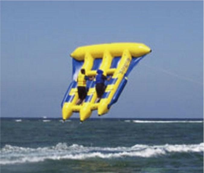 「空飛ぶバナナボートです。思いっきり楽しんで!」の画像2