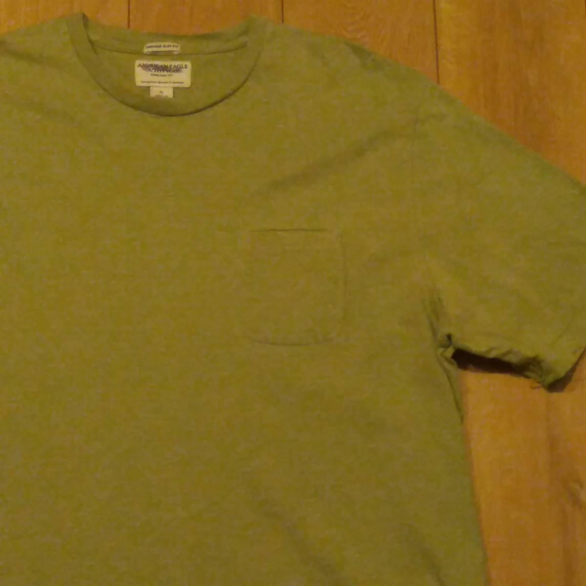 USA古着卸 AMERICAN EAGLE アメリカンイーグル 胸ポケ Tシャツ XL_画像3