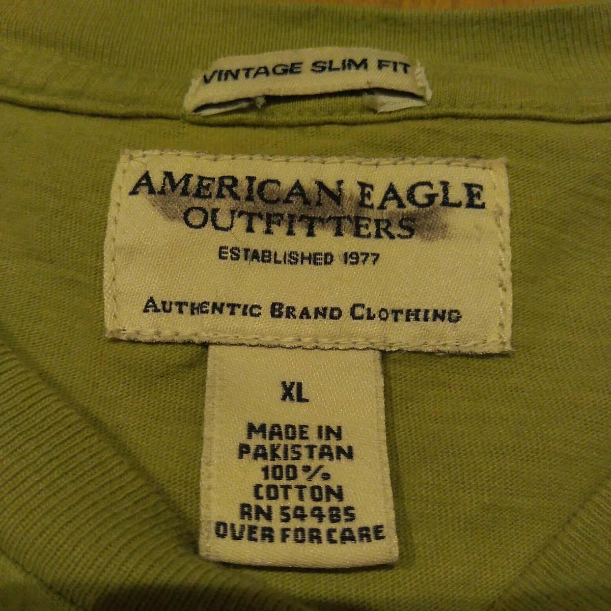 USA古着卸 AMERICAN EAGLE アメリカンイーグル 胸ポケ Tシャツ XL_画像4