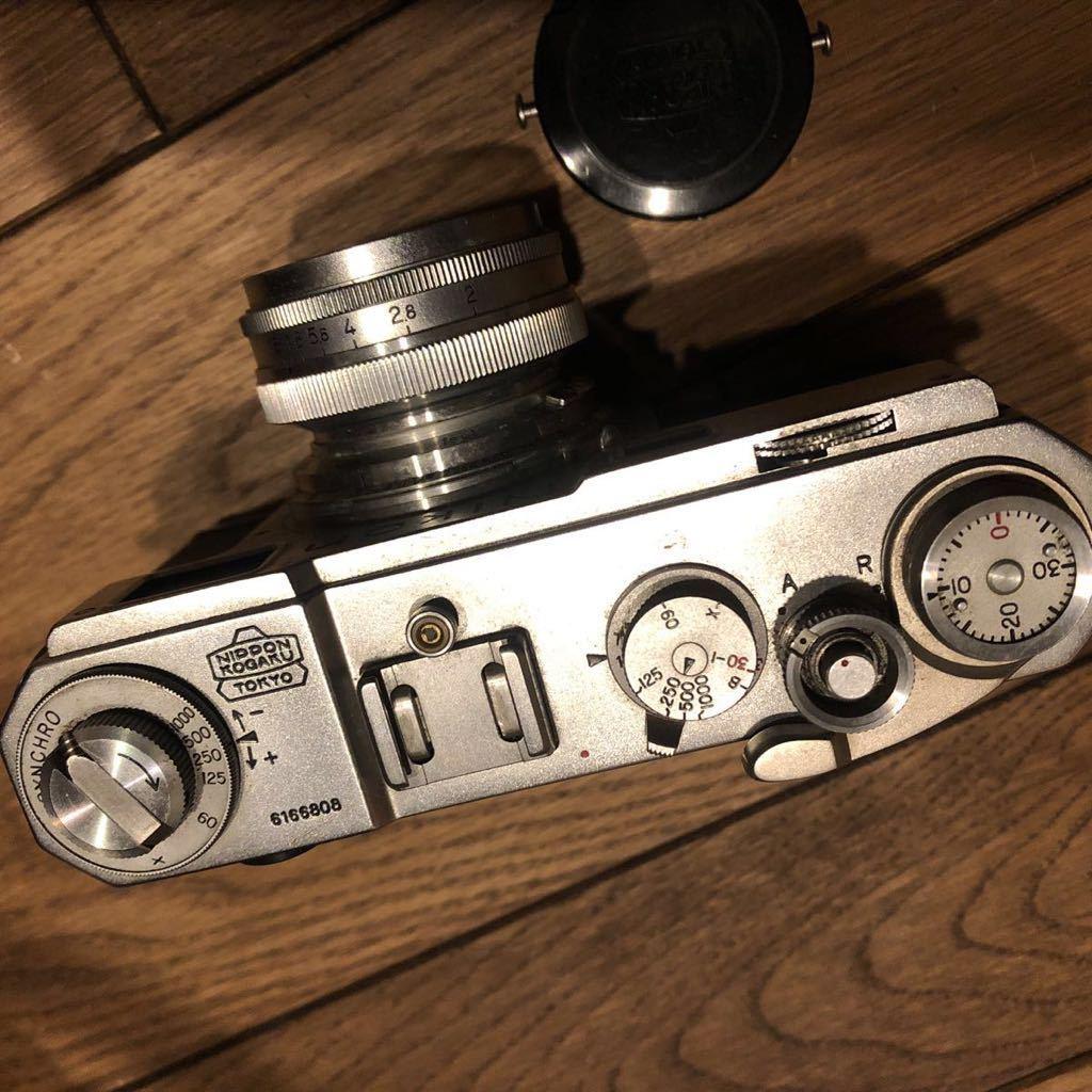希少 NIPPON KOGAKU Nikon フィルムカメラ ヴィンテージ シャッター巻き上げ動作確認 中古 ジャンク_画像3