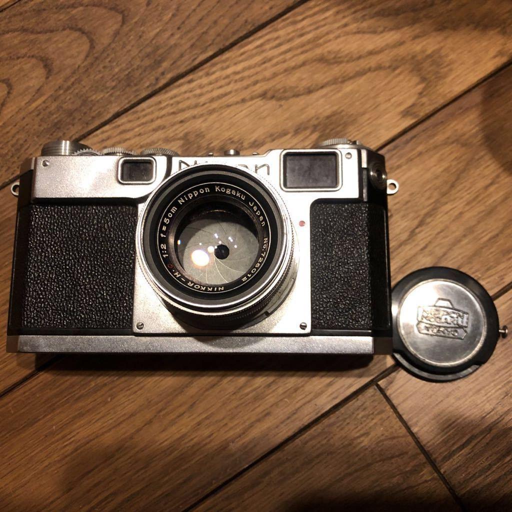 希少 NIPPON KOGAKU Nikon フィルムカメラ ヴィンテージ シャッター巻き上げ動作確認 中古 ジャンク_画像2