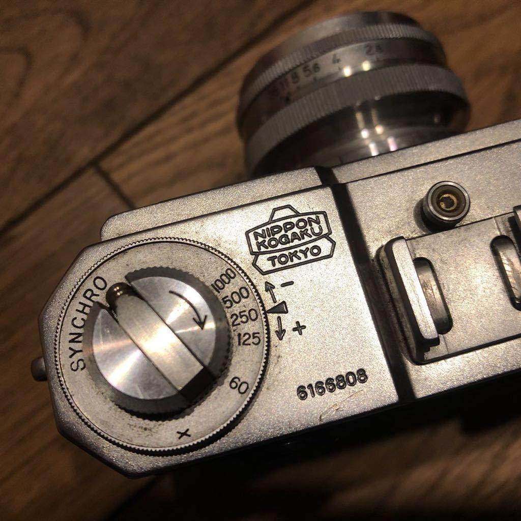 希少 NIPPON KOGAKU Nikon フィルムカメラ ヴィンテージ シャッター巻き上げ動作確認 中古 ジャンク_画像5