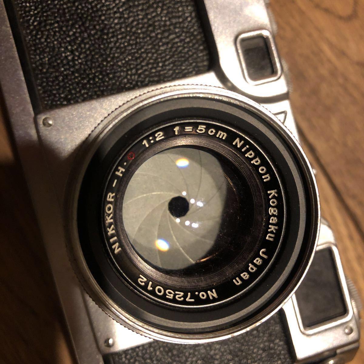 希少 NIPPON KOGAKU Nikon フィルムカメラ ヴィンテージ シャッター巻き上げ動作確認 中古 ジャンク_画像4
