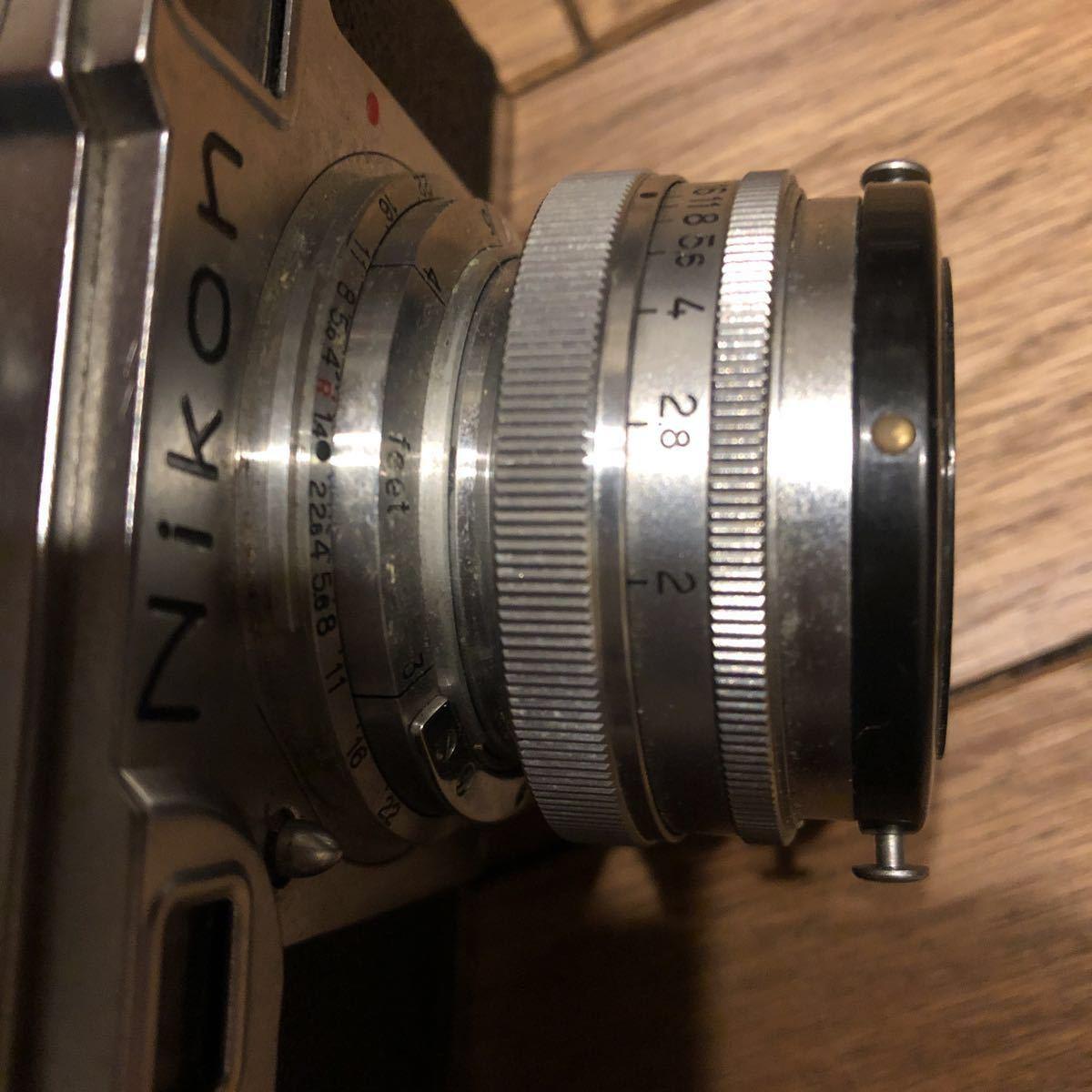 希少 NIPPON KOGAKU Nikon フィルムカメラ ヴィンテージ シャッター巻き上げ動作確認 中古 ジャンク_画像8