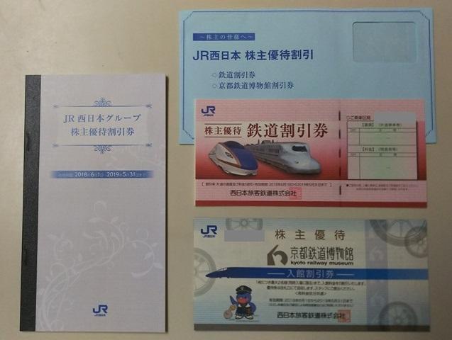 JR西日本株主優待鉄道割引券(+JR西日本グループ優待割引券)