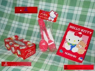 希少 非売品 未使用 レトロ キティ 製薬会社 ノベルティ 3点 セット 当時物 ハローキティー Hello Kitty グッズ 80年代 サンリオ 旧 Sanrio_当時物ノーシン販促品 旧サンリオKitty