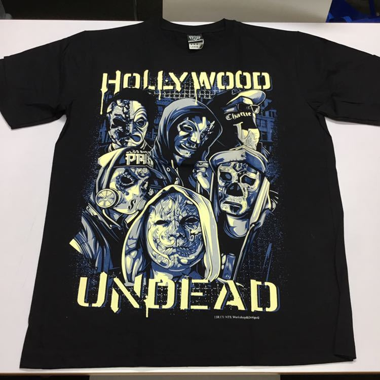 バンドデザイン半袖Tシャツ Lサイズ ハリウッドアンデッド HOLLYWOOD UNDEAD *SR5B1