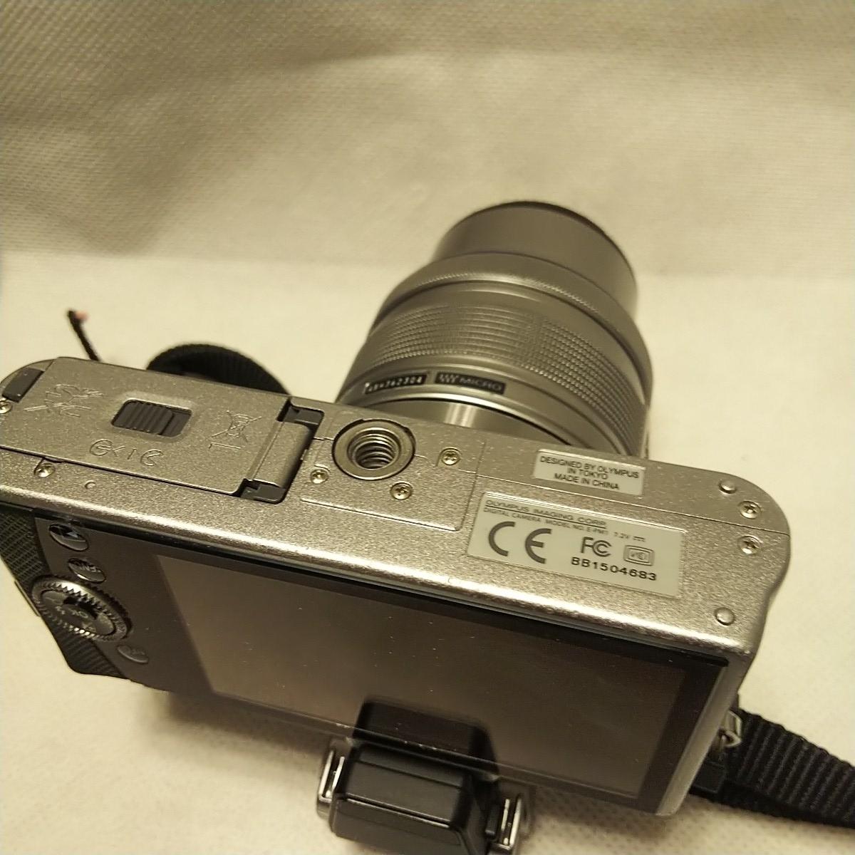 オリンパス E-PM1 デジタル一眼 レンズ フラッシュ付き FL-LM1 M.ZUIKO 14-42mm 1:3.5-5.6 π37mm ズームレンズキット YOKO-63 完動品 美品_画像6