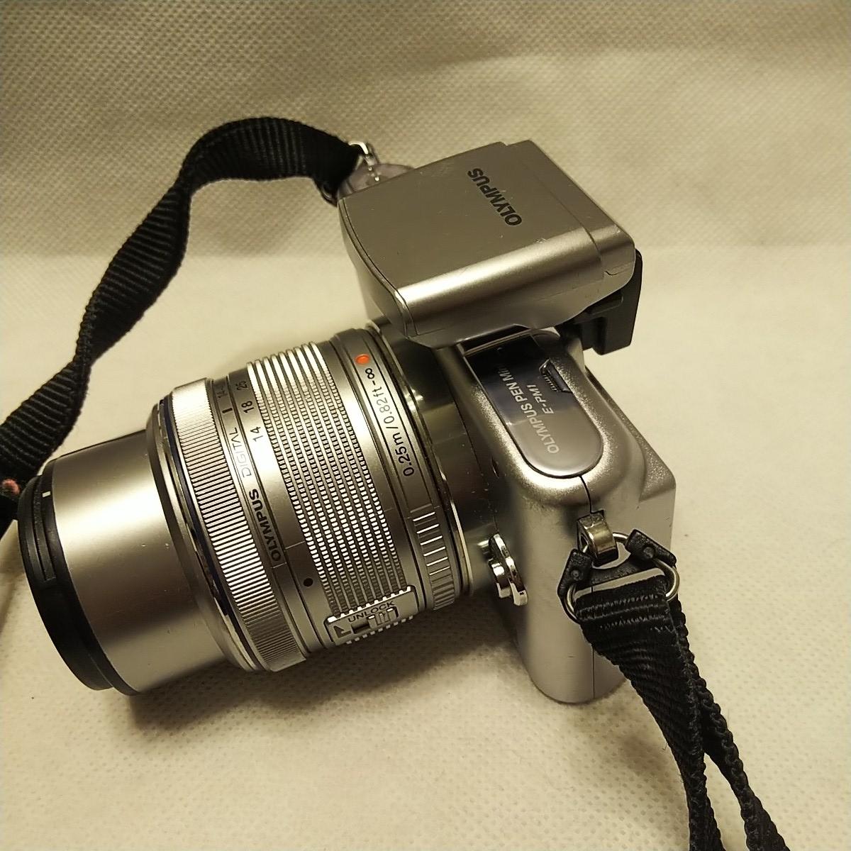 オリンパス E-PM1 デジタル一眼 レンズ フラッシュ付き FL-LM1 M.ZUIKO 14-42mm 1:3.5-5.6 π37mm ズームレンズキット YOKO-63 完動品 美品_画像8