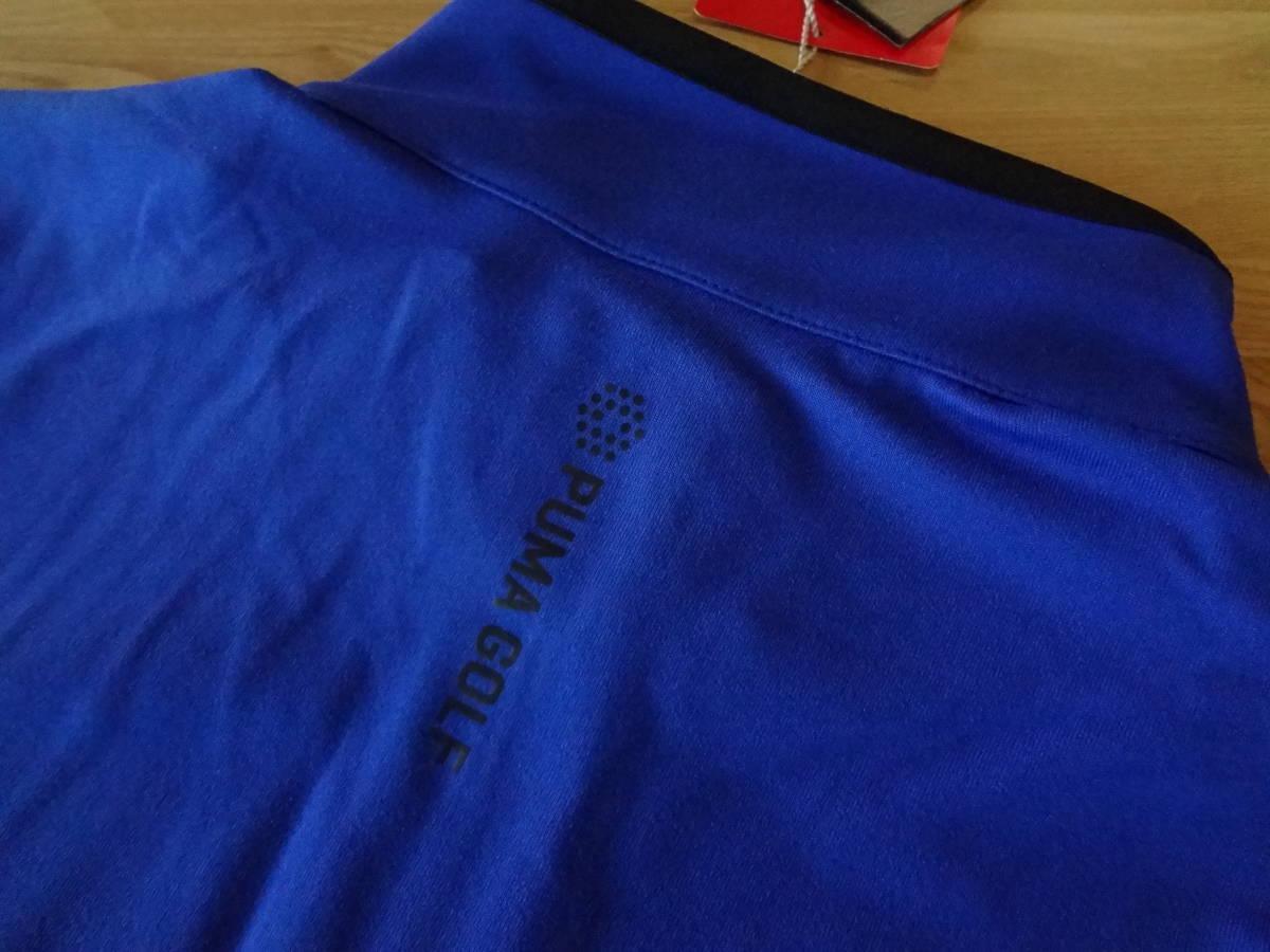 ☆☆Rファウラー 【ブルー S】 PUMA Rotation 1/4zip コブラ特注刺繍入り プルオーバー ドライセル プーマ 新品_画像7