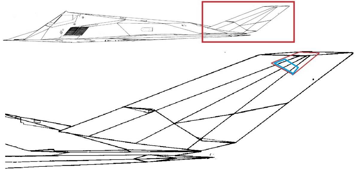 米空軍 F-117 戦闘機 尾翼部品 ナイトホーク ステルス戦闘機 展示用 ロッキード スカンクワークス ステルス F-22 F-35 SR-71 U-2_画像8
