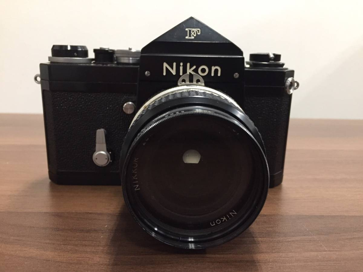 ◆◇a3291 Nikon F カメラ本体 レンズ付き 6876171 レンズ 28mm 1:3.5 ニコン フィルムカメラ レンズ+2点付◇◆