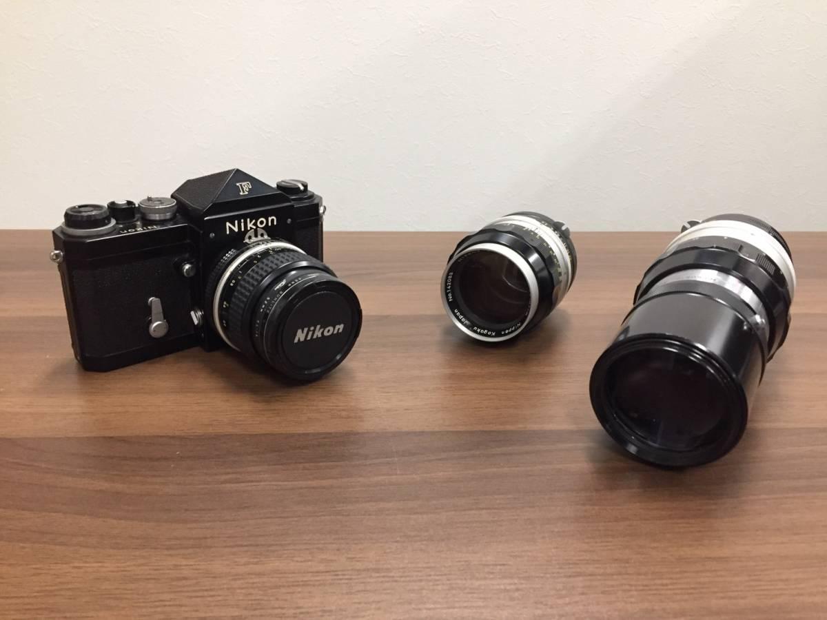 ◆◇a3291 Nikon F カメラ本体 レンズ付き 6876171 レンズ 28mm 1:3.5 ニコン フィルムカメラ レンズ+2点付◇◆_画像3