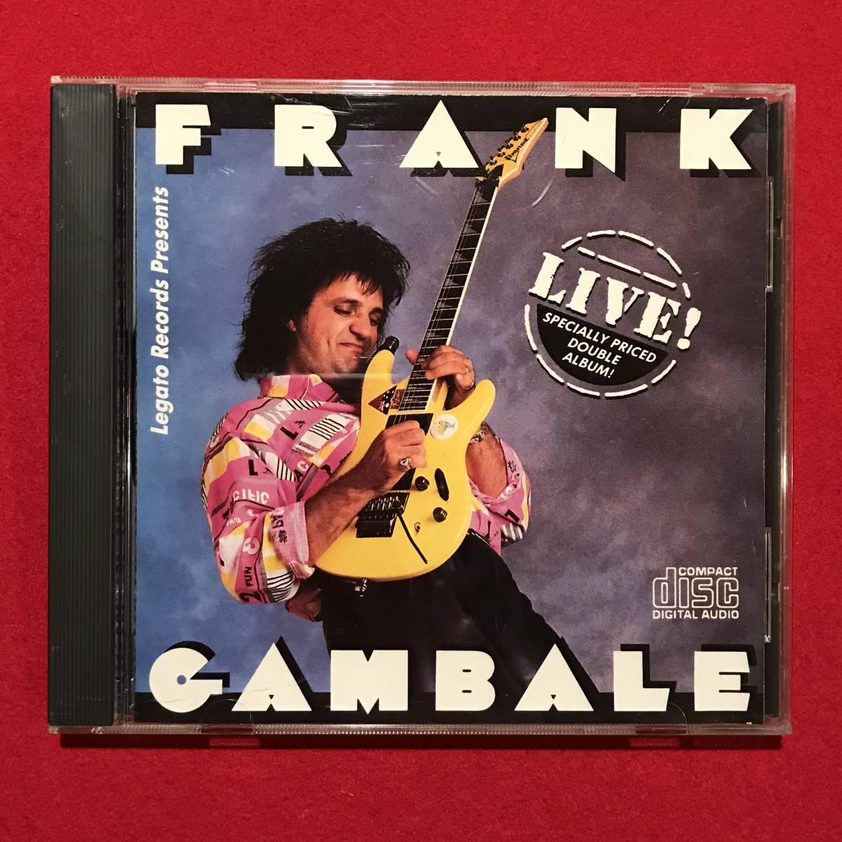 8883●CD●FRANK GAMBALE/フランク・ギャンバレ 『LIVE!』 スレキズ、ケースに汚れ、キズなどあり 中古