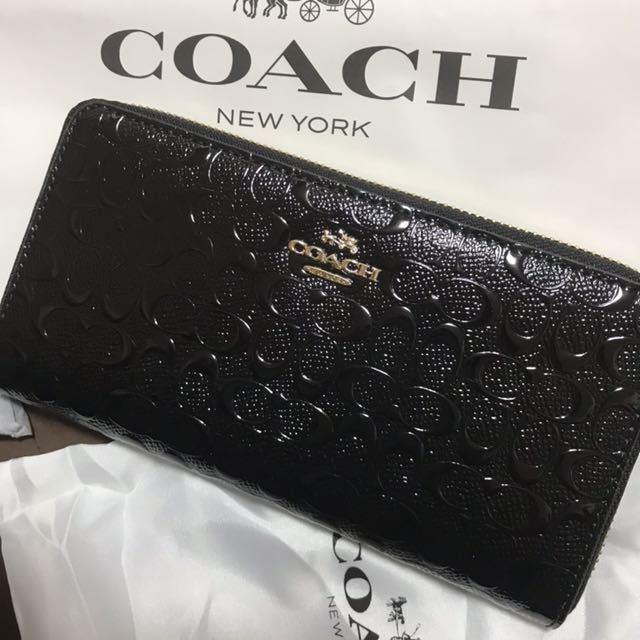 304d6208bd68 代購代標第一品牌- 樂淘letao - コーチ長財布ブラック黒エナメル兼用