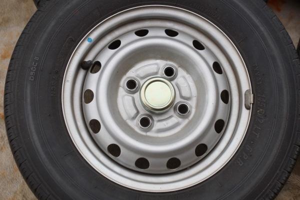 車検用 軽トラック スチールホイール 3.5JX12 トーヨー VA-1 145R12 6P 4本セット 送料 全国一律 宮城県名取市~_画像2