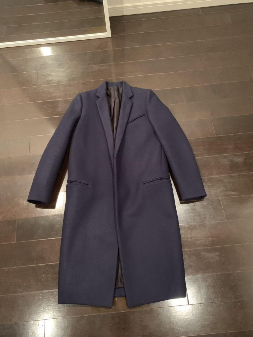 CELINE セリーヌ クロンビー コート フィービー 34 ネイビー 紺 ジャケット ブルゾン レザー 美品_画像1