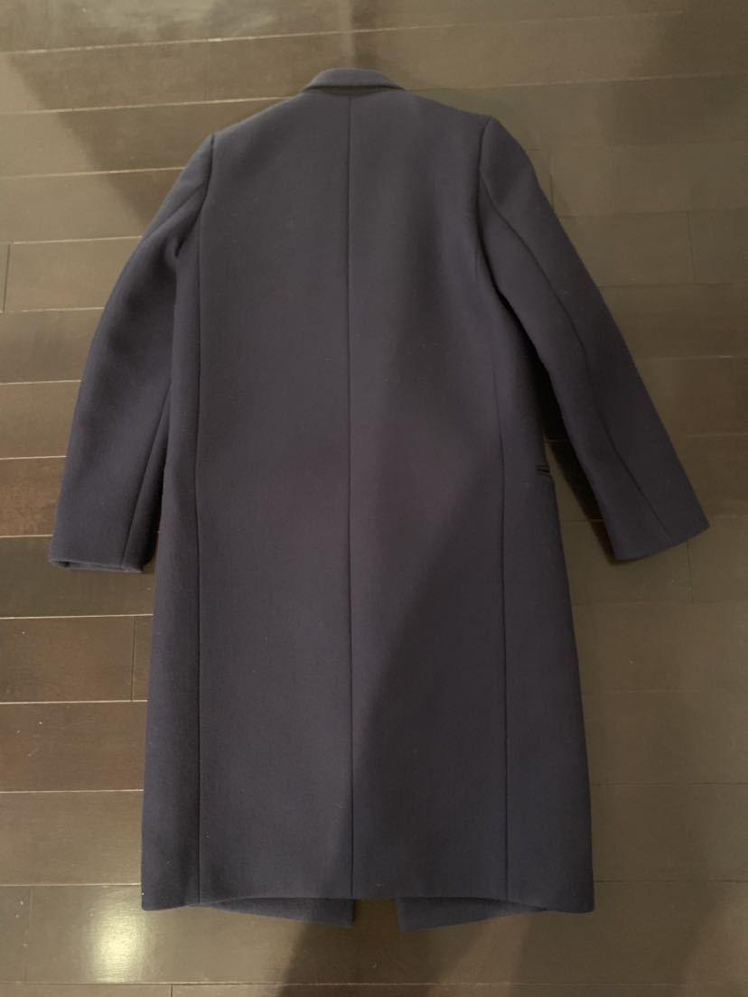 CELINE セリーヌ クロンビー コート フィービー 34 ネイビー 紺 ジャケット ブルゾン レザー 美品_画像3