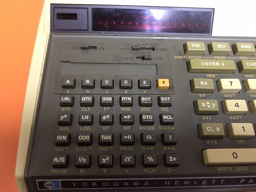 超レア★HP RPN入力 関数電卓「HP 97」ジャンク ACアダプタ付き キャリングケース付き YOKOGAWA HEWLETT PACKARD ヒューレットパッカード_画像3