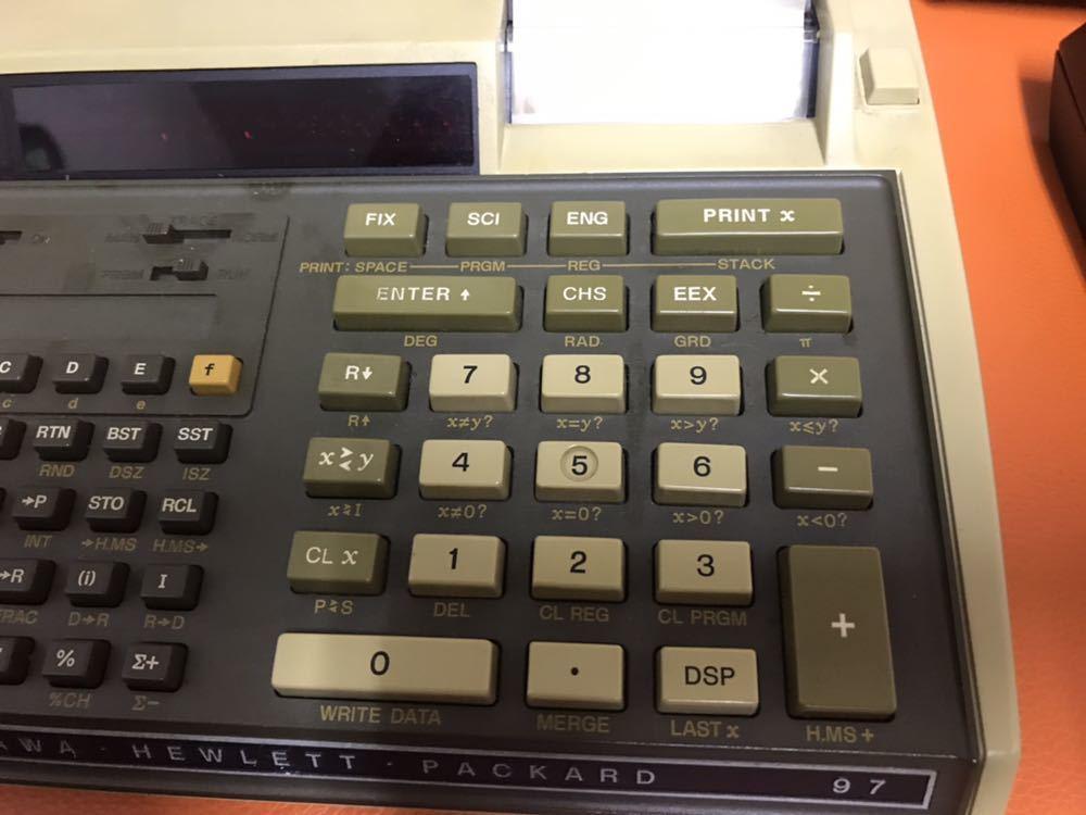 超レア★HP RPN入力 関数電卓「HP 97」ジャンク ACアダプタ付き キャリングケース付き YOKOGAWA HEWLETT PACKARD ヒューレットパッカード_画像4