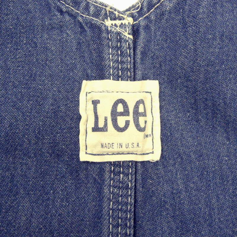送料無料 70s ビンテージ LEE リー デニム オーバーオール ワーク USA製 古着 70年代 アメカジ ヴィンテージ ペインター _画像4