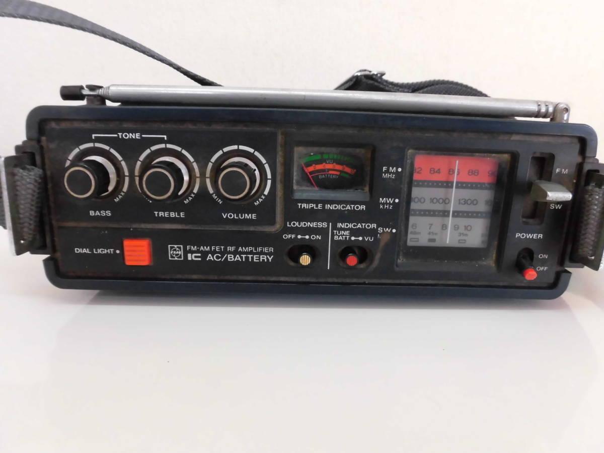 National Panasonic クーガー 3バンドラジオ RF-888 COUGAR ジャンク扱いで!_画像2