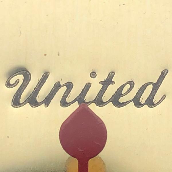 送料無料 アンティークウォールクロック UNITED/ヴィンテージ壁掛け時計アメリカ製usa製ミッドセンチュリーバンジョーギター楽器50s60s70s_画像4