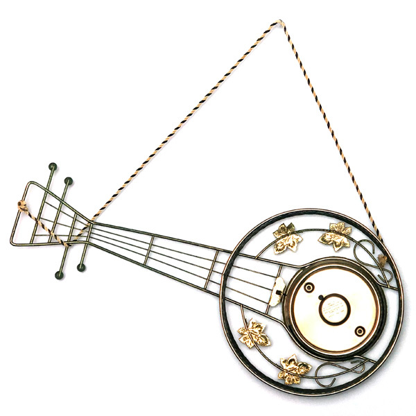 送料無料 アンティークウォールクロック UNITED/ヴィンテージ壁掛け時計アメリカ製usa製ミッドセンチュリーバンジョーギター楽器50s60s70s_画像2