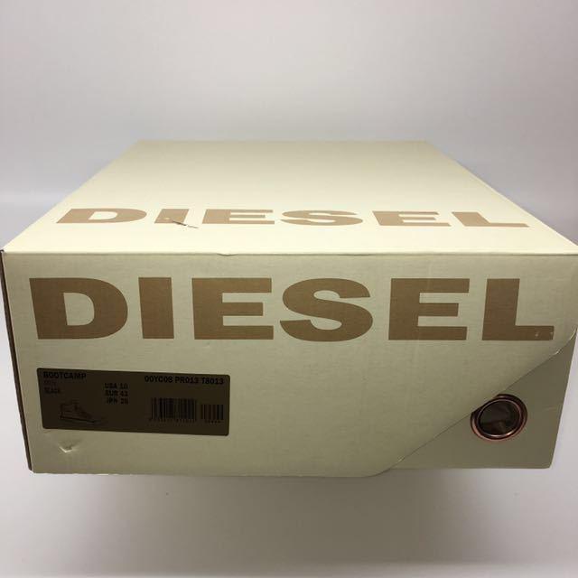 ☆ Diesel Bootcamp Black Leather boots size USA:10 JPN:28 Used ディーゼル レザー ブーツ ブートキャンプ ブラック 箱付 廃盤 レア☆1