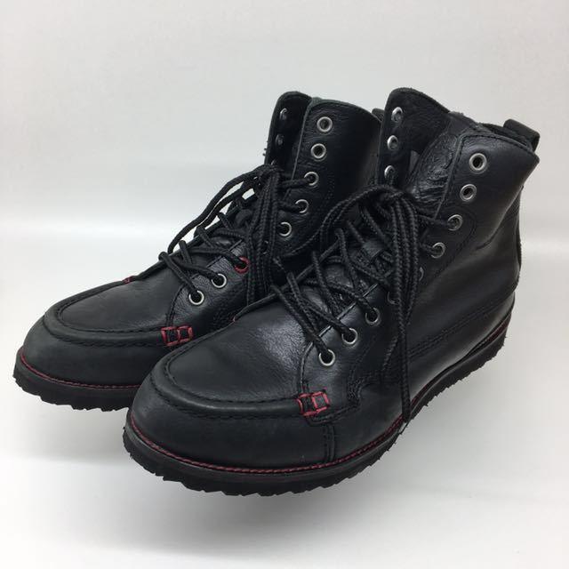 ☆ Diesel Bootcamp Black Leather boots size USA:10 JPN:28 Used ディーゼル レザー ブーツ ブートキャンプ ブラック 箱付 廃盤 レア☆2