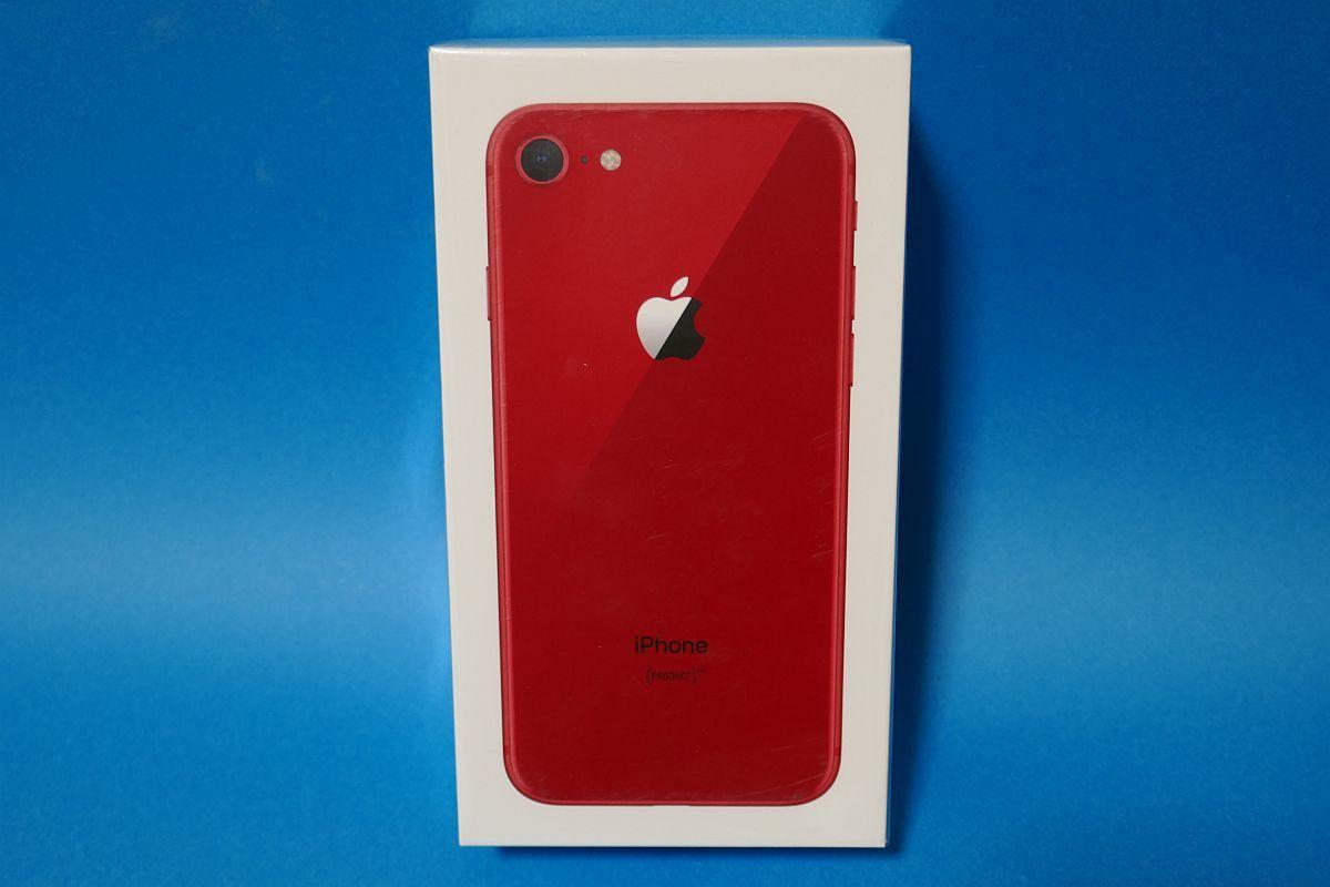 au iPhone8 64GB (PRODUCT)RED レッド MRRY2J/A 【未使用・SIMロック解除済】 判定○