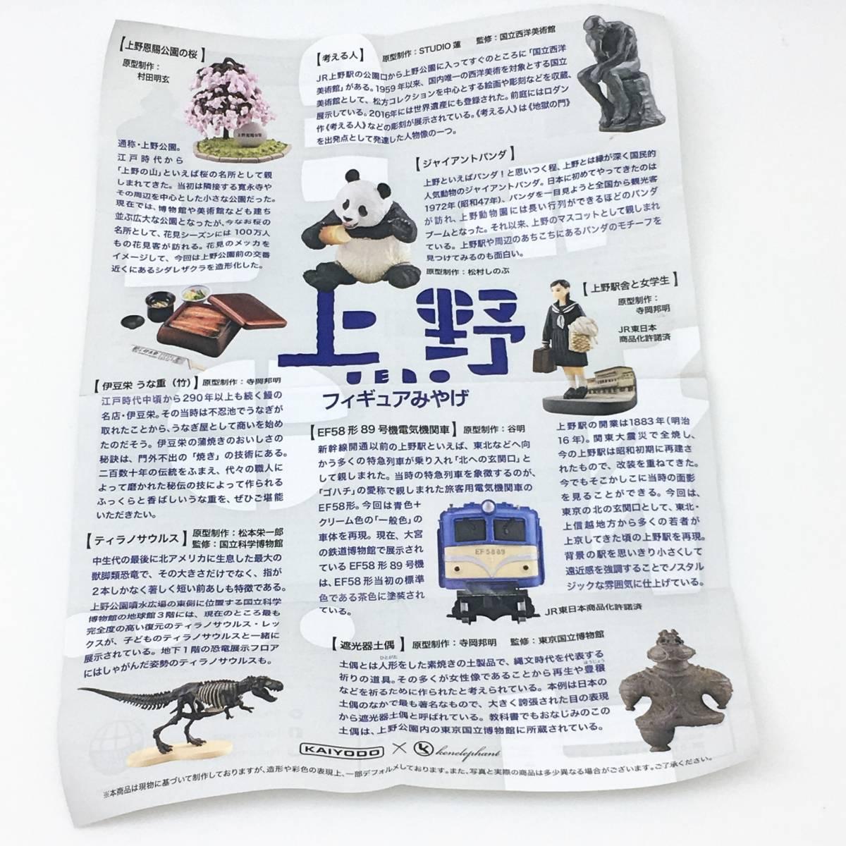 海洋堂 ガチャ 上野フィギュアみやげ ジャイアントパンダ   上野駅 KAIYODO パンダ_画像3