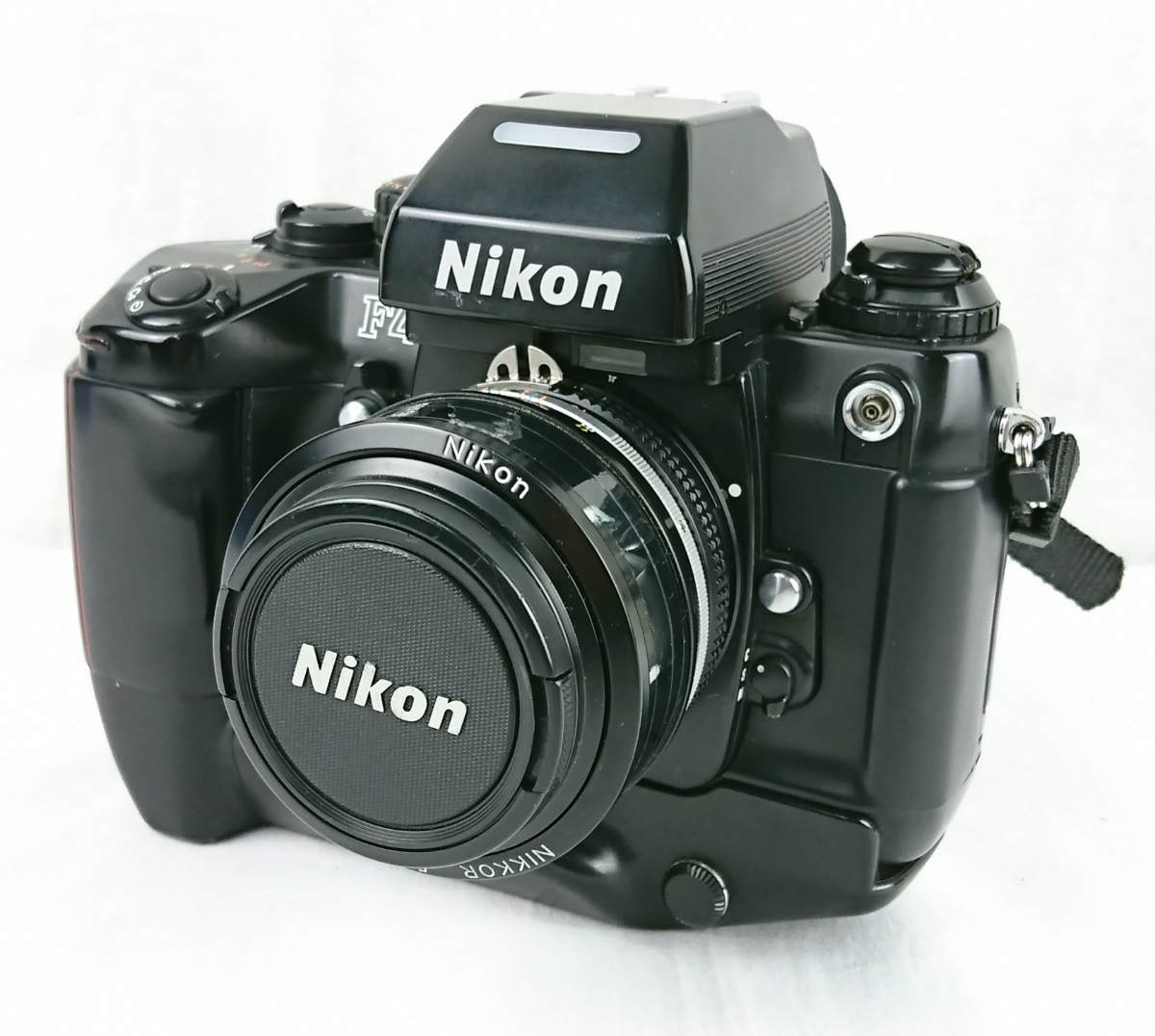 【GO-391】 Nikon ニコン カメラ F4 AF オートフォーカス レンズ NIKKOR 50mm 1:1.2 MB-21 一眼レフ ジウジアーロデザインカメラ