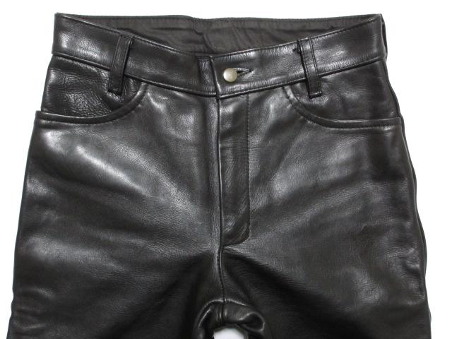 送料無料★VANSONバンソン★レザーパンツ W32 メンズ バイク バイカー アメカジ 黒 ブラック ロック ヘビー 革パン USA製 肉厚 ヘビー 男性_画像4