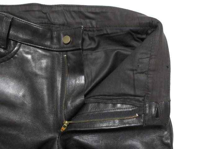 送料無料★VANSONバンソン★レザーパンツ W32 メンズ バイク バイカー アメカジ 黒 ブラック ロック ヘビー 革パン USA製 肉厚 ヘビー 男性_画像5