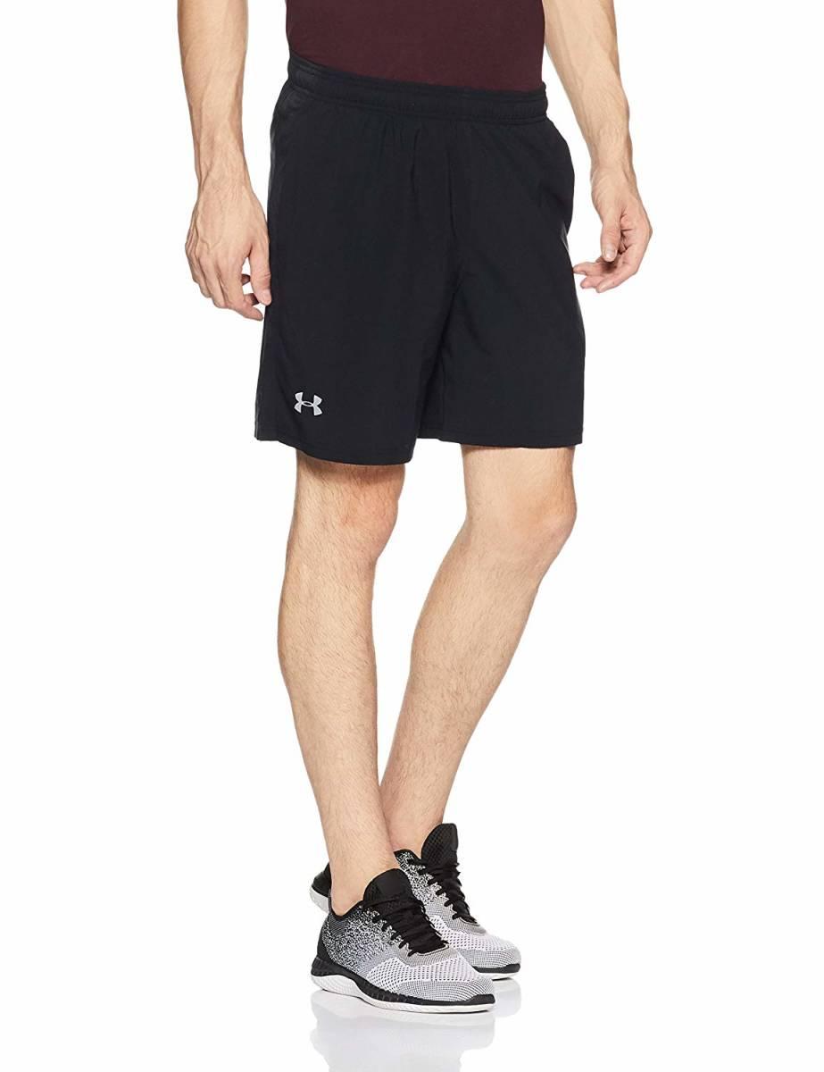 44%OFF UNDER ARMOUR 7'' Shorts XS ショートパンツ ハーフ ショーツ ブラック ヒートギア インナー付 ランニング ジョギング マラソン