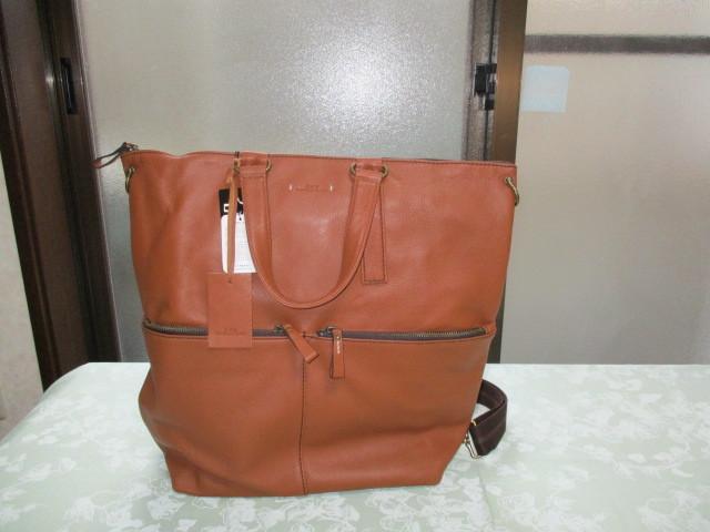 新品★AXE★牛革と綿製★リュックサックにもショルダーバッグにもトートーバッグにもなる3wayバッグ★定価税込32,400円_AXEの3wayバッグです。
