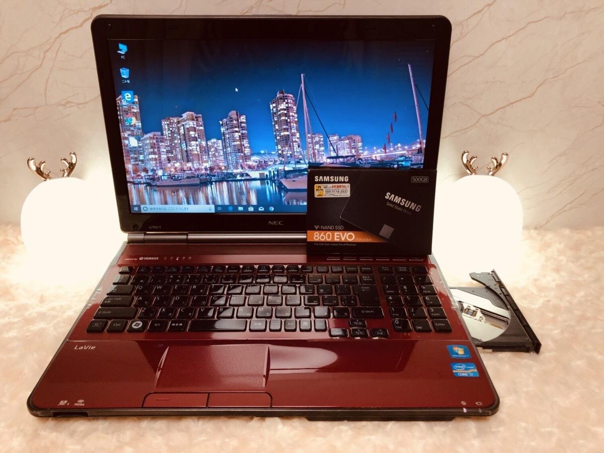 【究極のベンチマークを叩き出すSSD搭載】NEC Lavie LL750/E | i7 2630QM |起動10秒 | SAMSUNG SSD 500GB | 8GB | 高速WiFi | Windows10♪