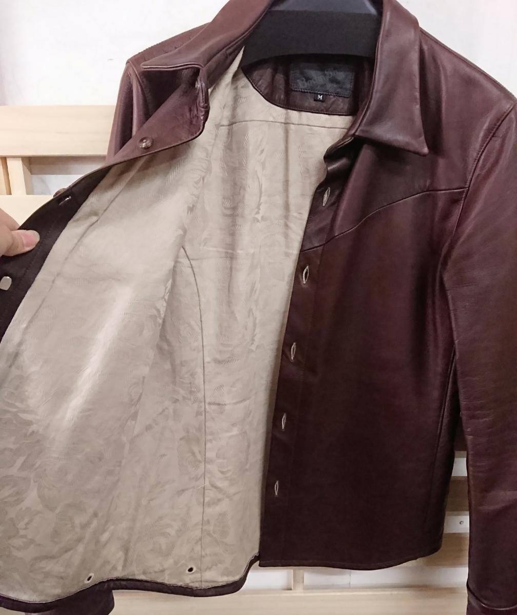 美品☆Body Shirt MR.OLIVE ミスターオリーブ カウハイド レザージャケット シャツ M 日本製_画像6