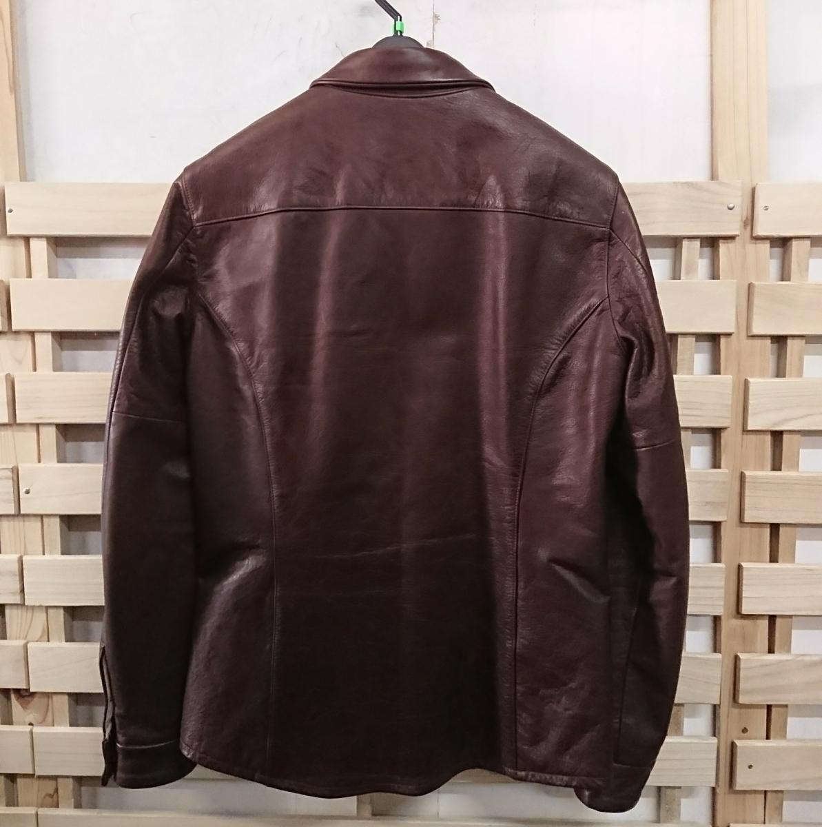 美品☆Body Shirt MR.OLIVE ミスターオリーブ カウハイド レザージャケット シャツ M 日本製_画像2