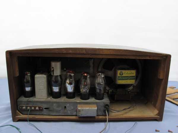 columbiaラジオ DS-79(993) 真空管ラジオ 昭和レトロ 動作OK_画像6