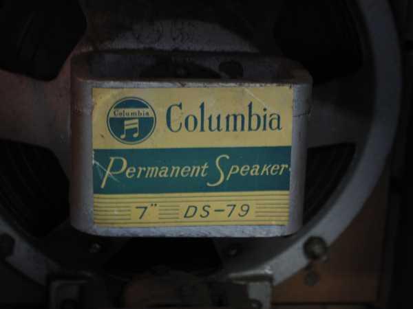 columbiaラジオ DS-79(993) 真空管ラジオ 昭和レトロ 動作OK_画像8