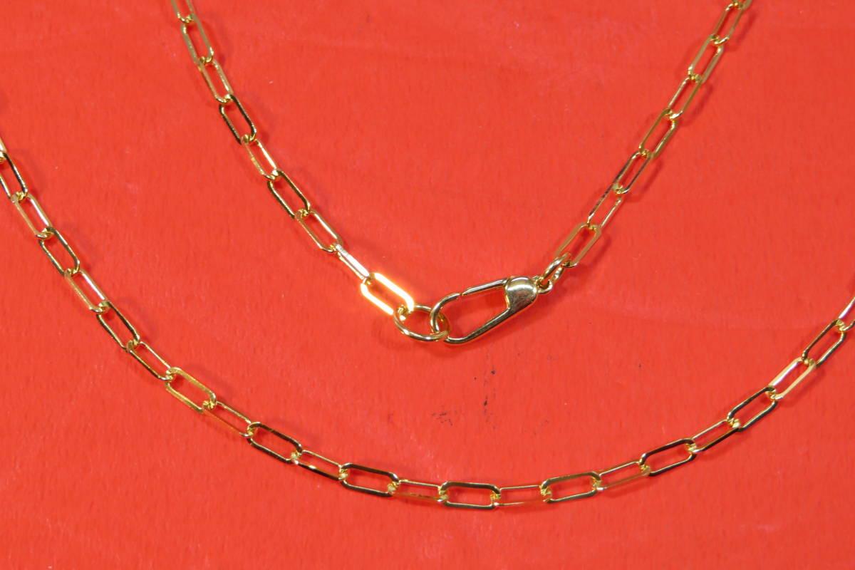 新品 k18 イエローゴールド あずきチェーン ( 角長 )  ネックレス     60 cm    4.91 g _画像5