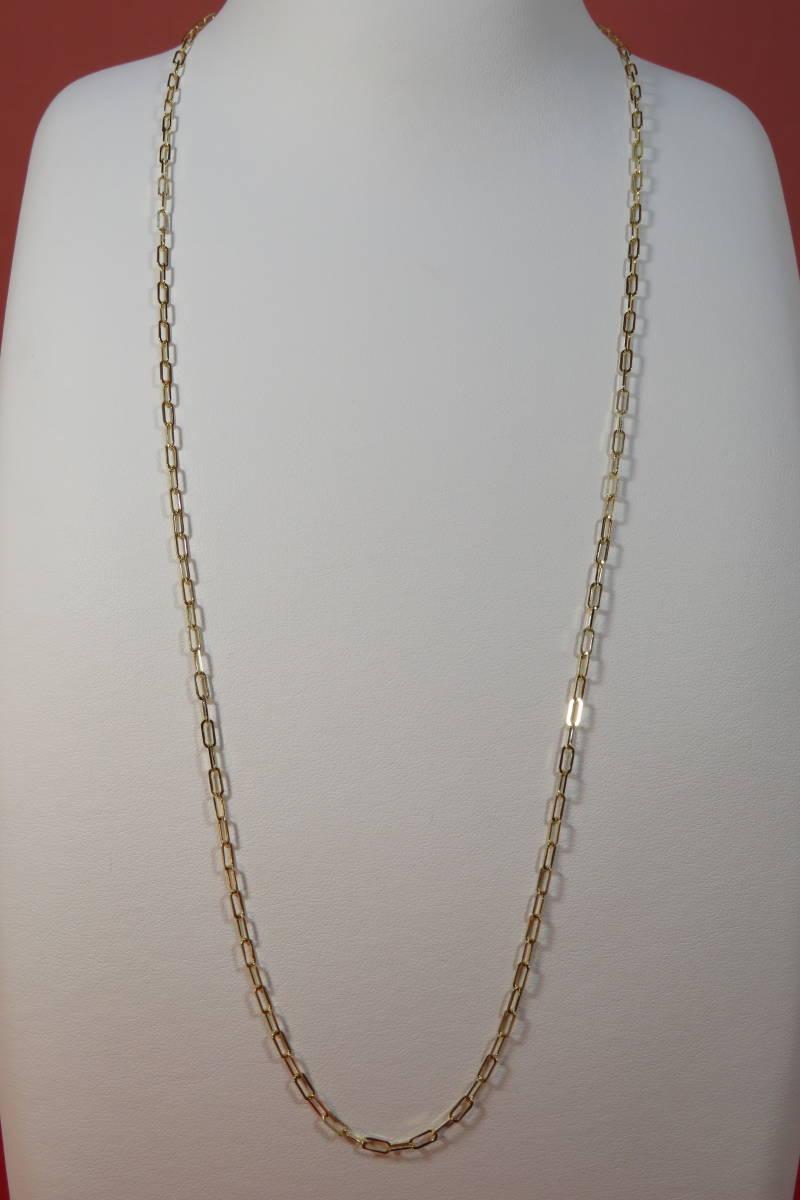 新品 k18 イエローゴールド あずきチェーン ( 角長 )  ネックレス     60 cm    4.91 g _画像3