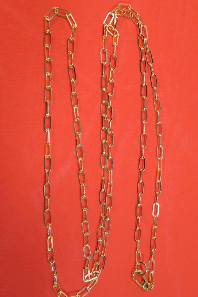 新品 k18 イエローゴールド あずきチェーン ( 角長 )  ネックレス     60 cm    4.91 g _画像4