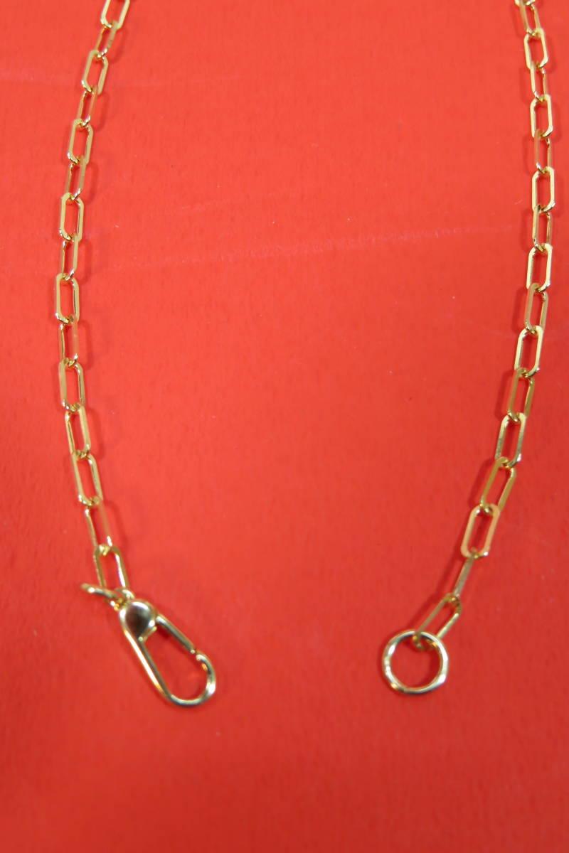 新品 k18 イエローゴールド あずきチェーン ( 角長 )  ネックレス     60 cm    4.91 g _画像7