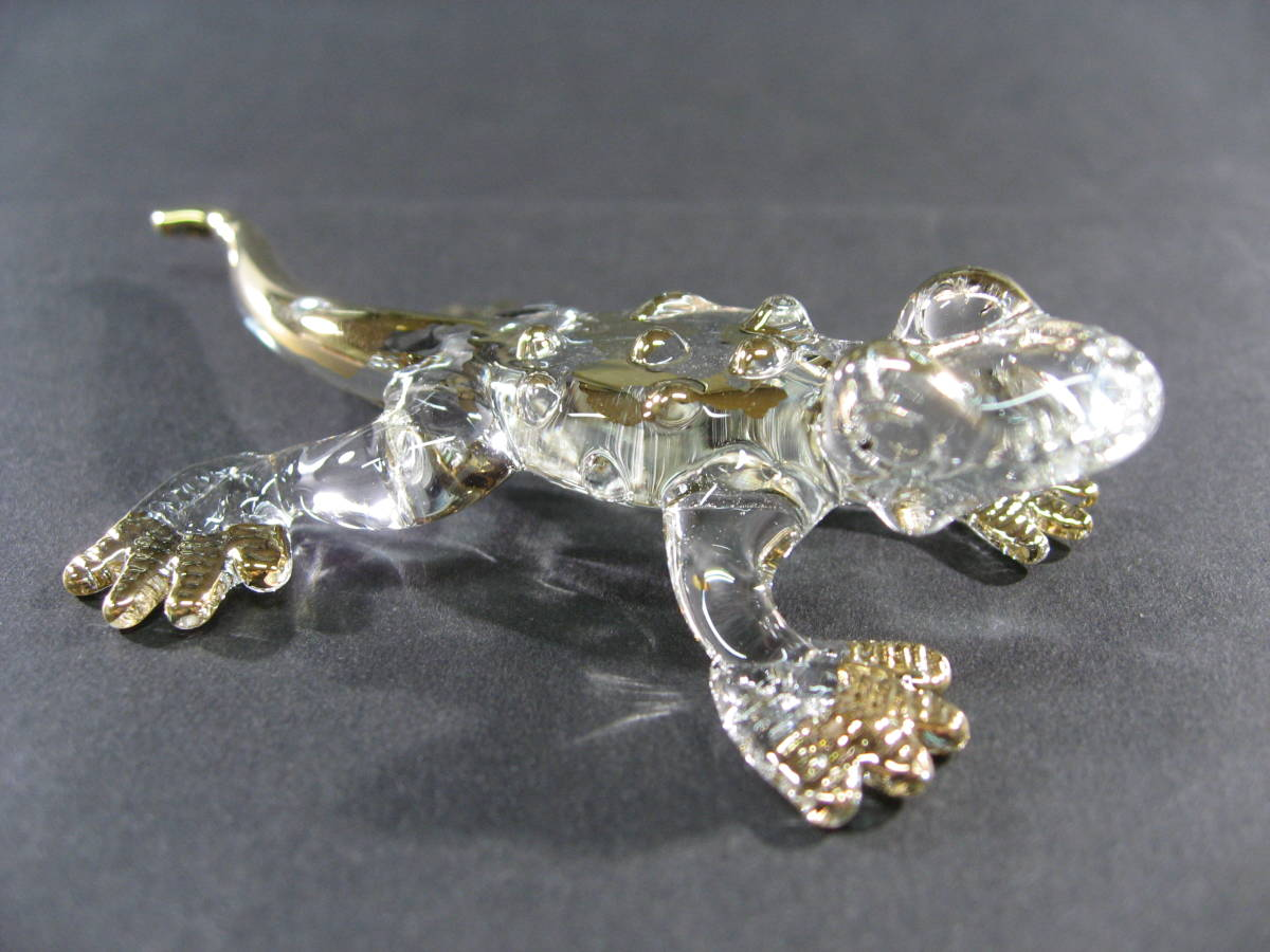 【全国一律送料込】 ガラス細工 コモドオオトカゲ コモドドラゴン 002_画像1