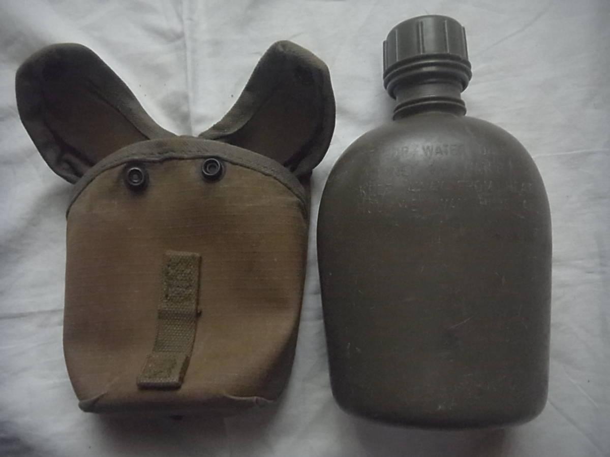 美品 実物 南アフリカ ローデシア軍 P70戦闘装備 1リットル水筒+カバー キャンティーン 特殊部隊 セルーススカウト SAS RECCE _画像3