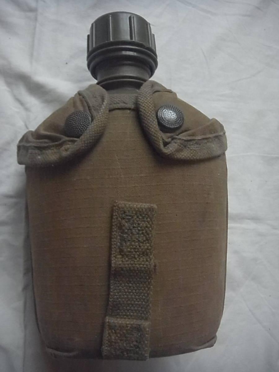 美品 実物 南アフリカ ローデシア軍 P70戦闘装備 1リットル水筒+カバー キャンティーン 特殊部隊 セルーススカウト SAS RECCE _画像1