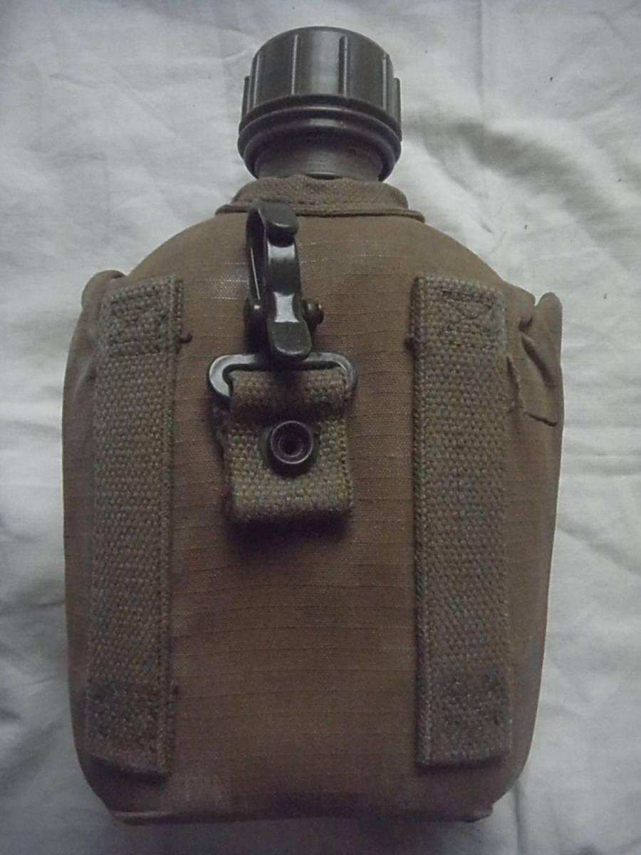 美品 実物 南アフリカ ローデシア軍 P70戦闘装備 1リットル水筒+カバー キャンティーン 特殊部隊 セルーススカウト SAS RECCE _画像2